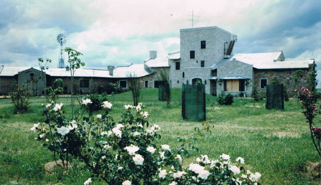 La casa recién terminada, vista desde el sur.